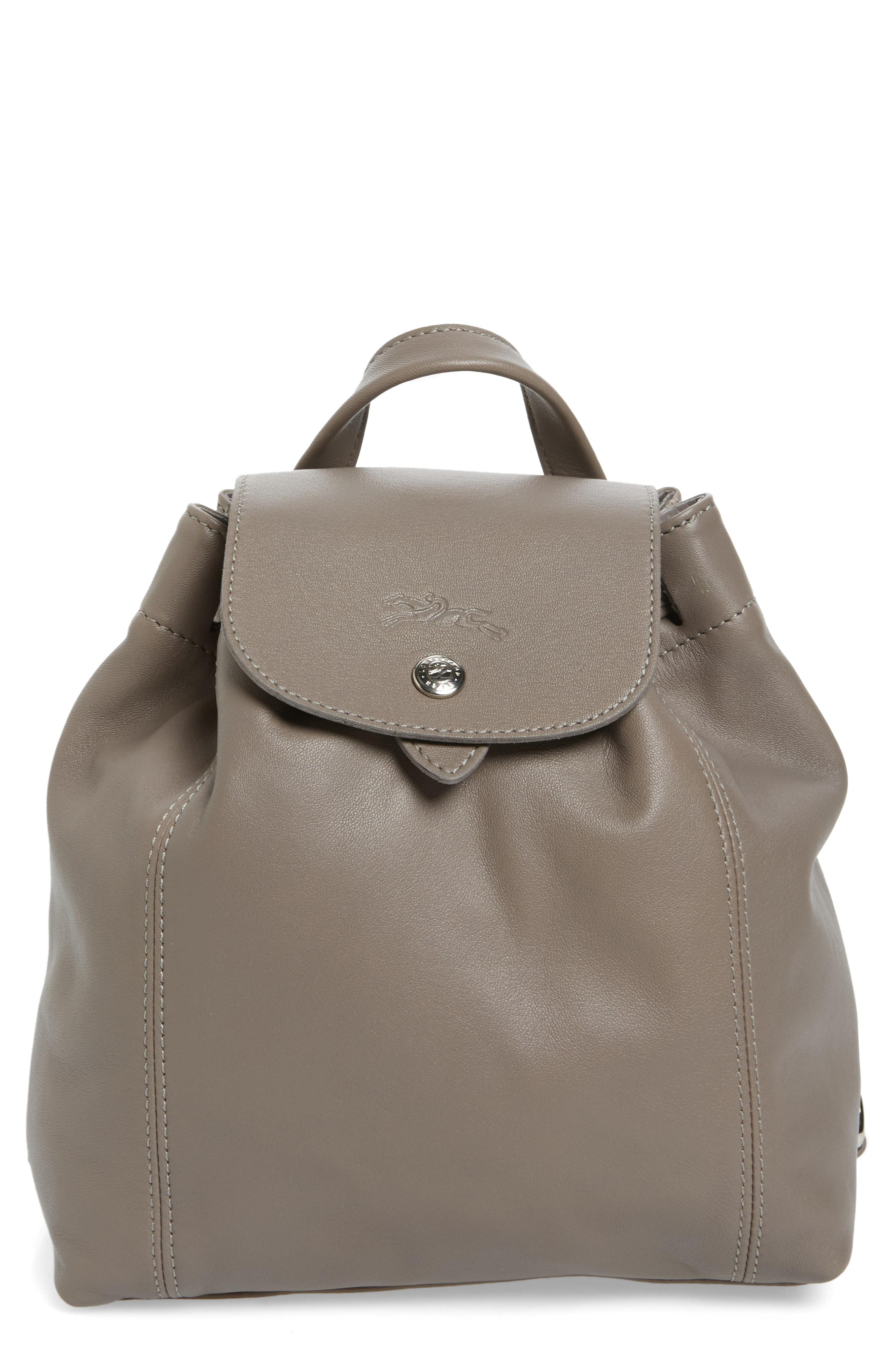 4816ff2f9807 Lyst - Longchamp Extra Small Le Pliage Cuir Backpack in Gray
