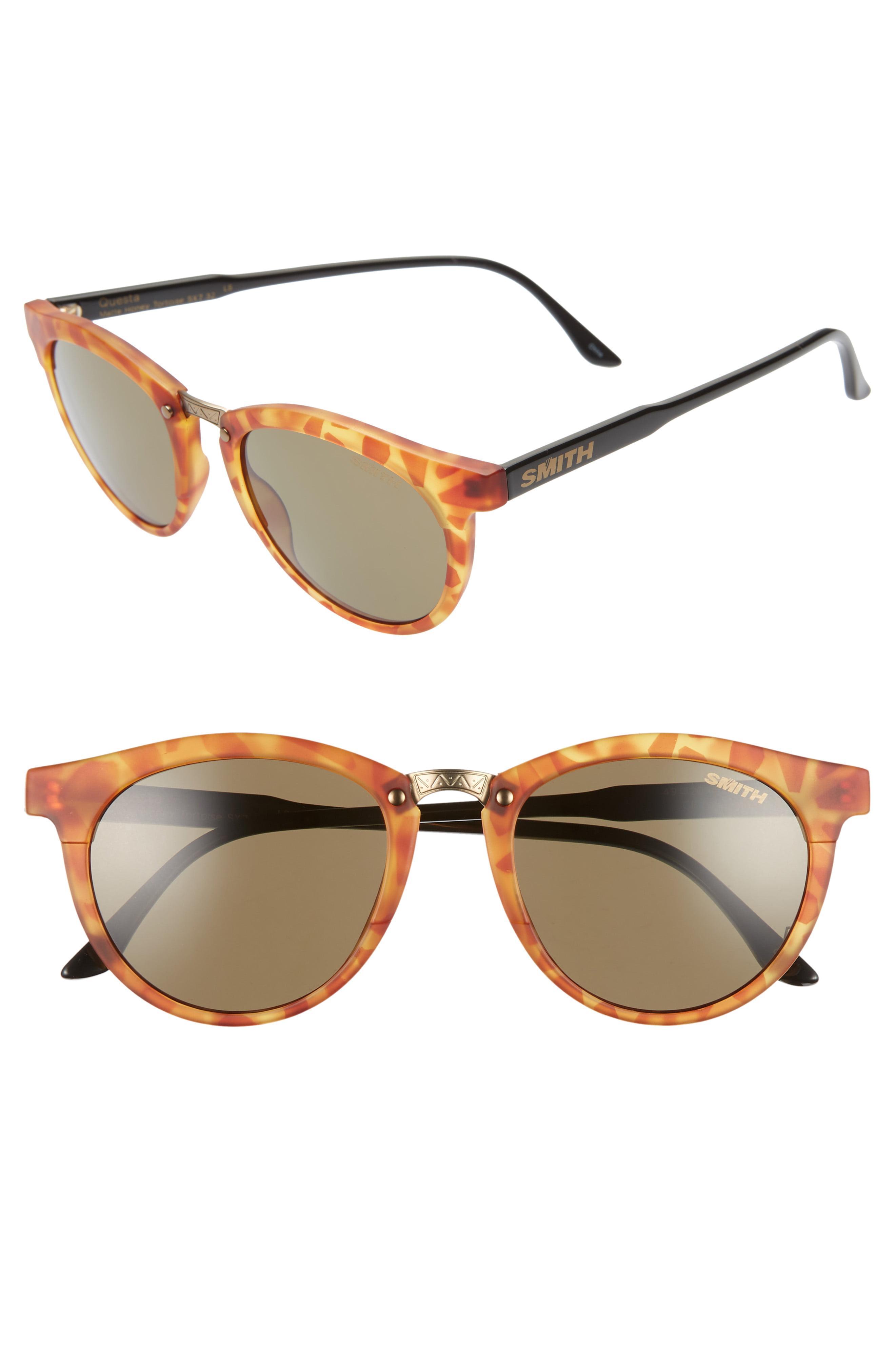 068e15aae8 Lyst - Smith Questa 49mm Chromapop Polarized Sunglasses - Honey ...