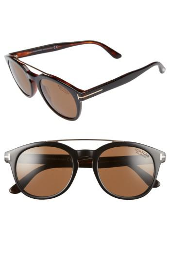 178dd3a598 Lyst - Tom ford Newman 53mm Polarized Sunglasses in Brown
