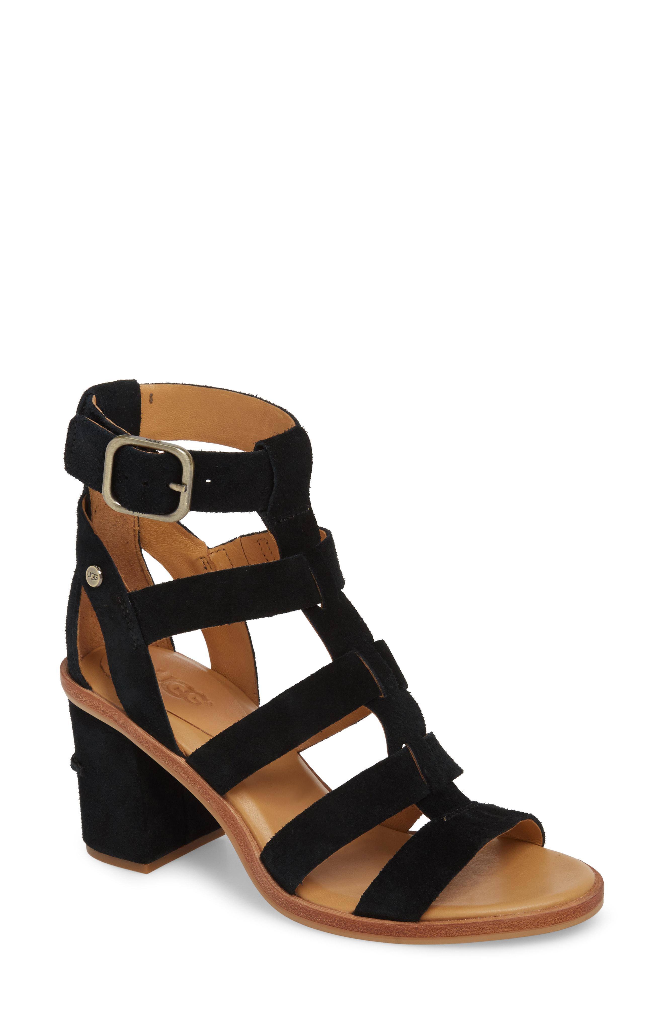 ebbe3761750 Ugg Black Ugg Macayla Block Heel Sandal