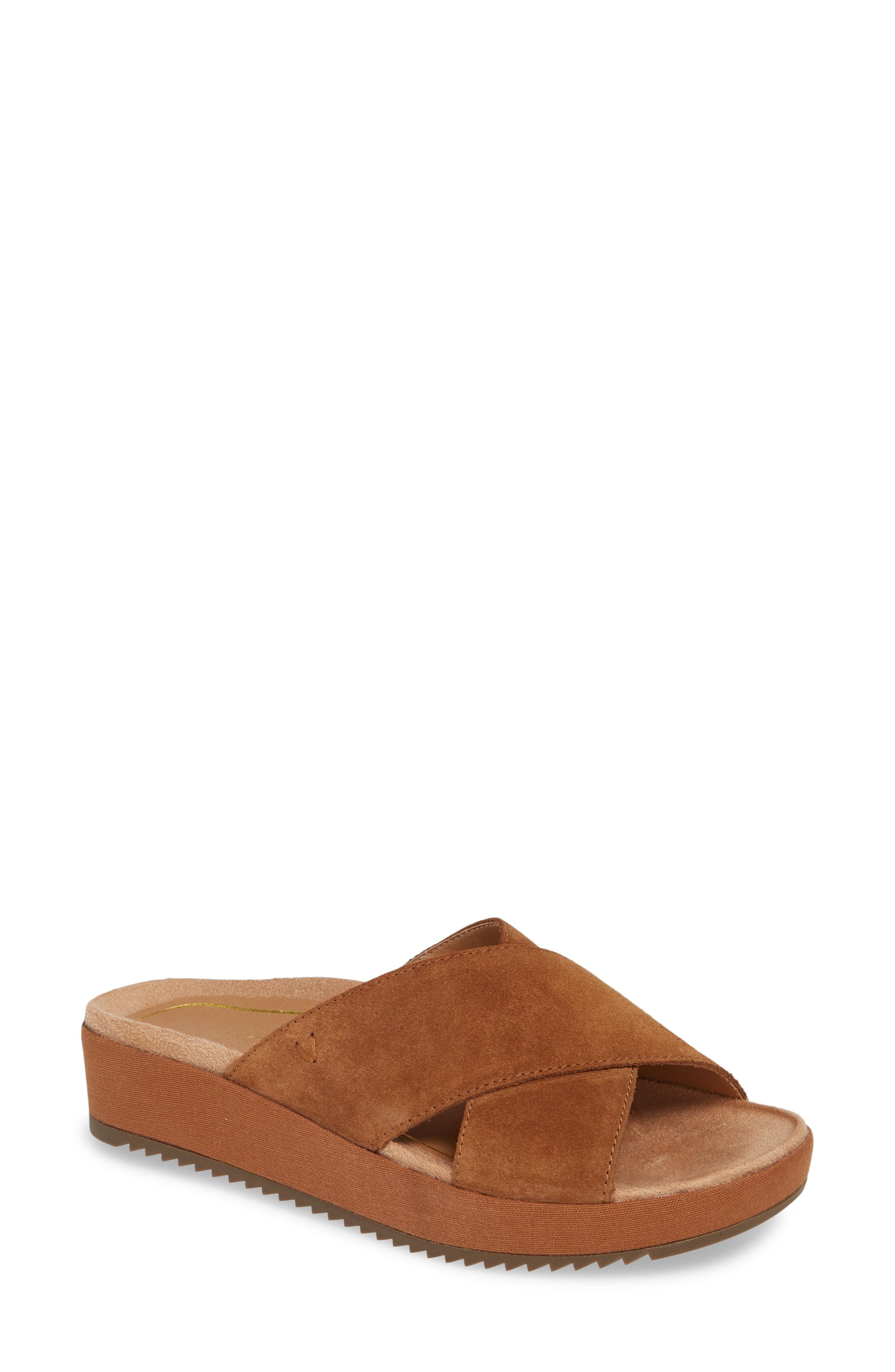 35ca89dd1ab6 Lyst - Vionic Hayden Wedge Slide Sandal in Brown