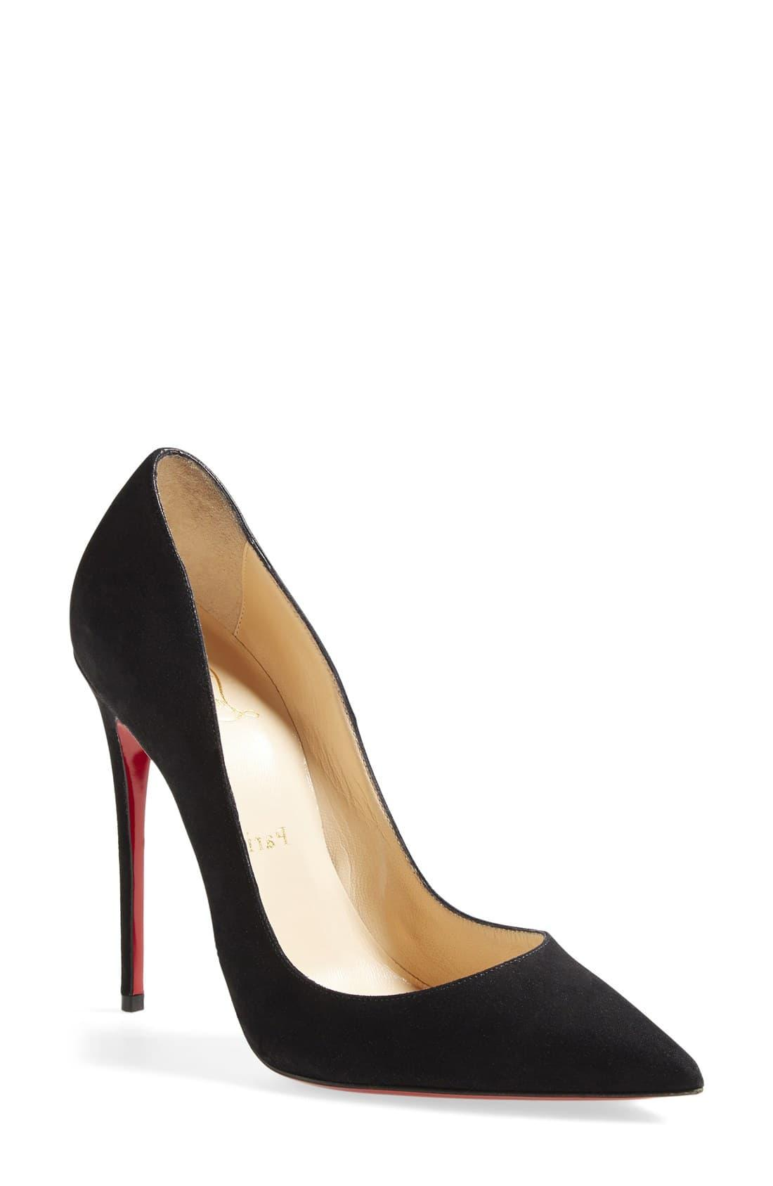 timeless design d4ff8 07e60 Women's Black 'so Kate' Pointy Toe Suede Pump