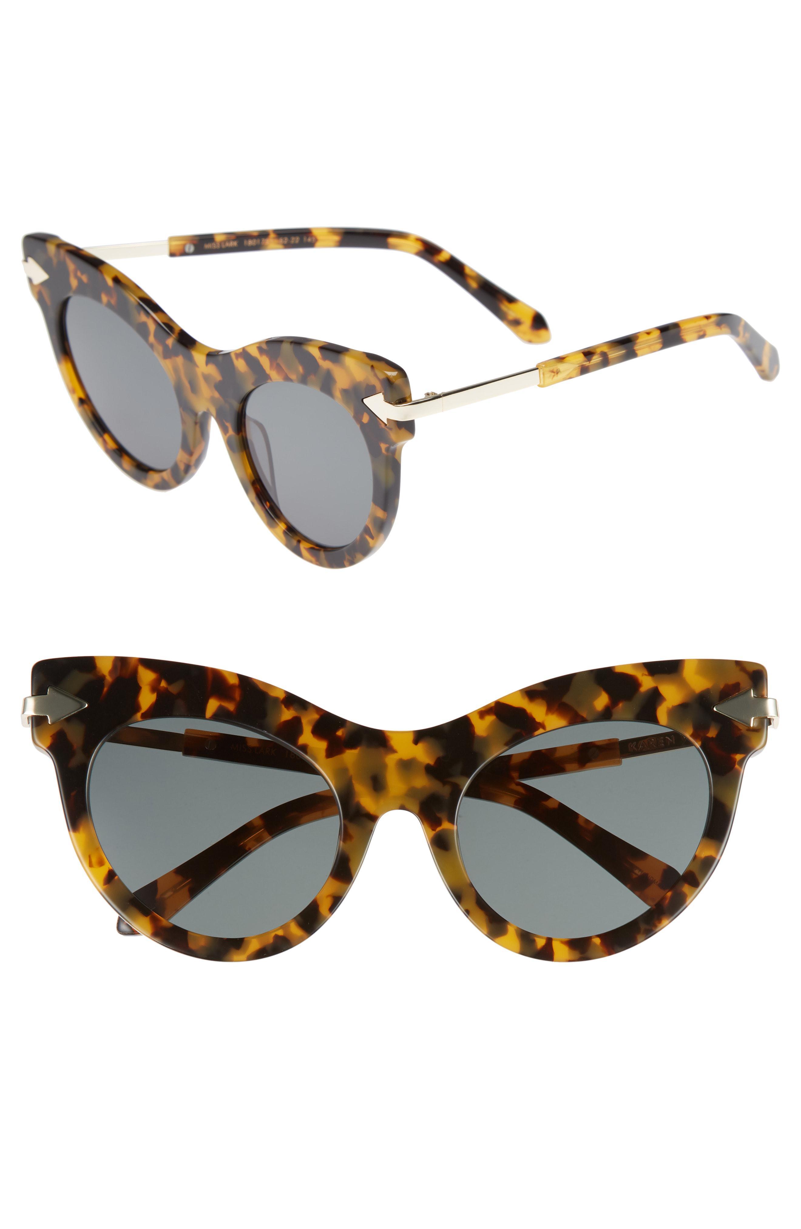 ace44d4541e9 Lyst - Karen Walker Miss Lark 52mm Cat Eye Sunglasses - Crazy ...
