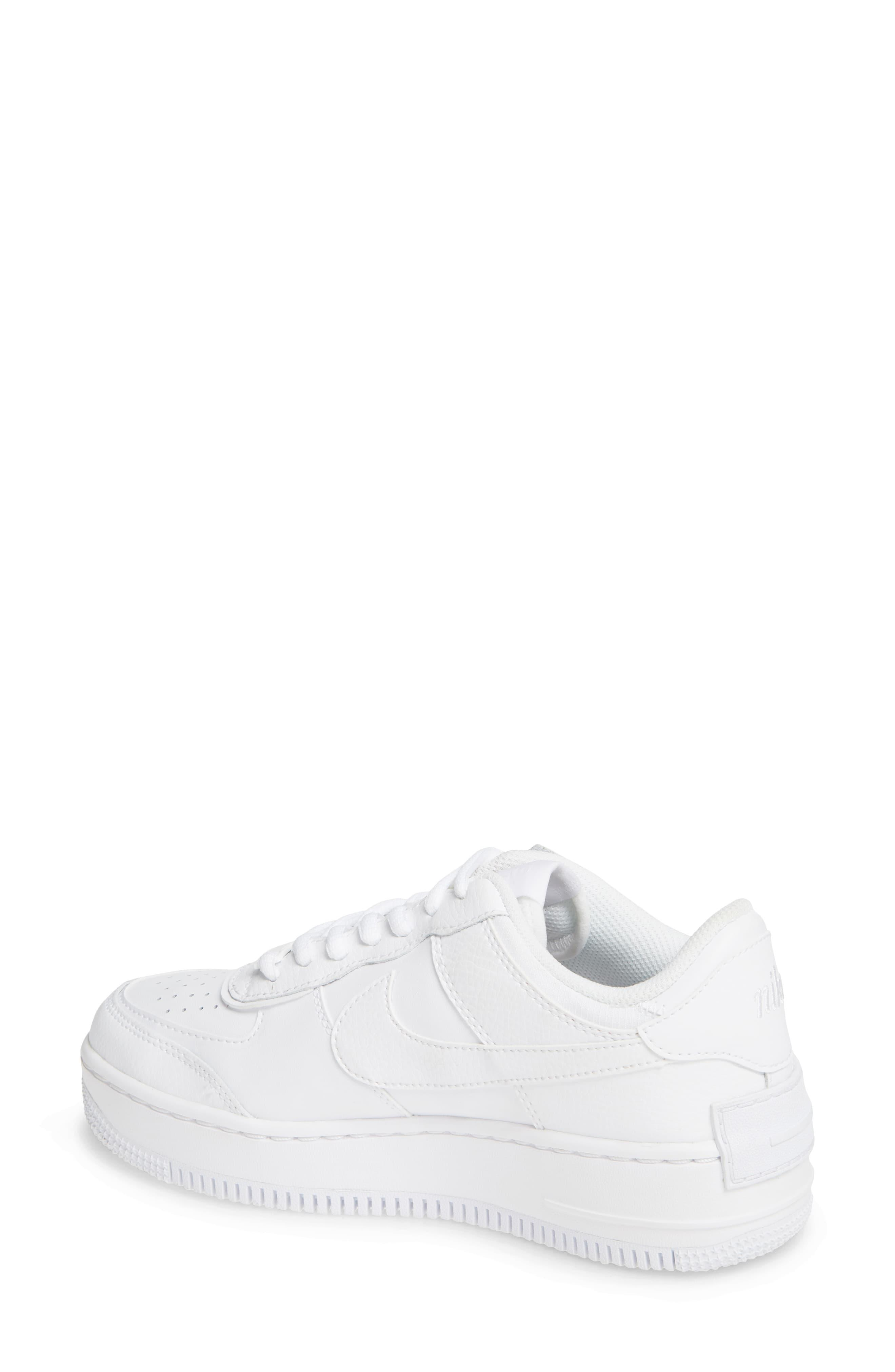 Nike Air Force 1 Shadow Sneaker In White White White White Lyst Кожа, синтетика, текстиль, пластик, резина. lyst