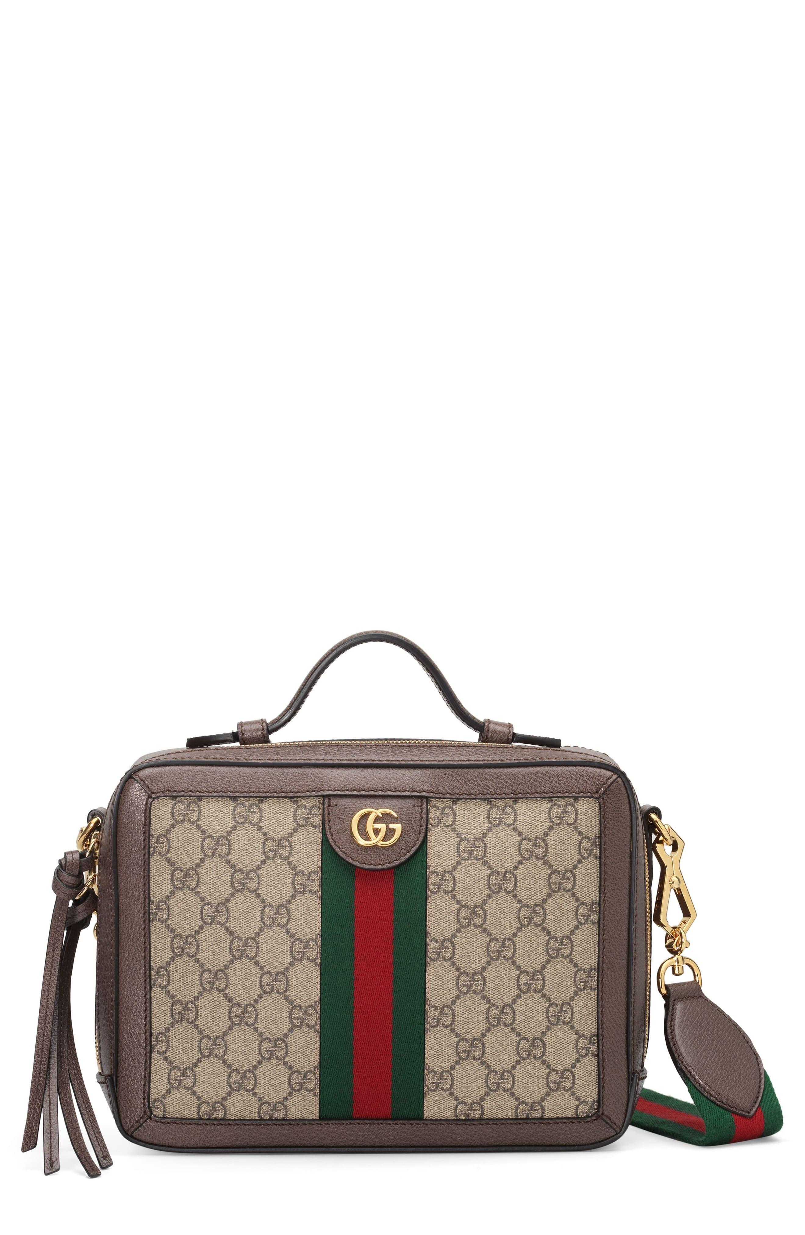 89985b96f06d Gucci Small Ophidia Gg Supreme Canvas Shoulder Bag - in Brown - Lyst