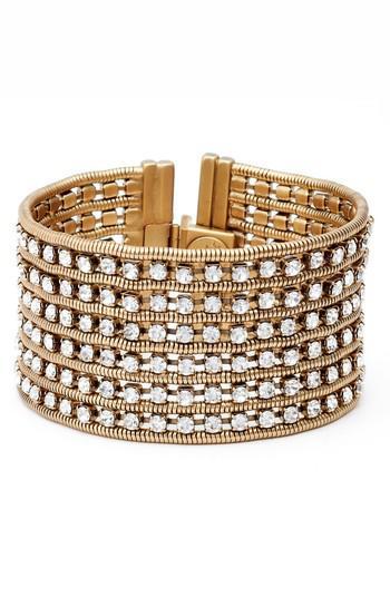 Loren Hope Nina Wide Bracelet In Gold