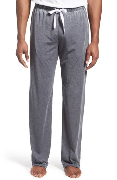 Daniel Buchler Washed Cotton Blend Lounge Pants In Gray