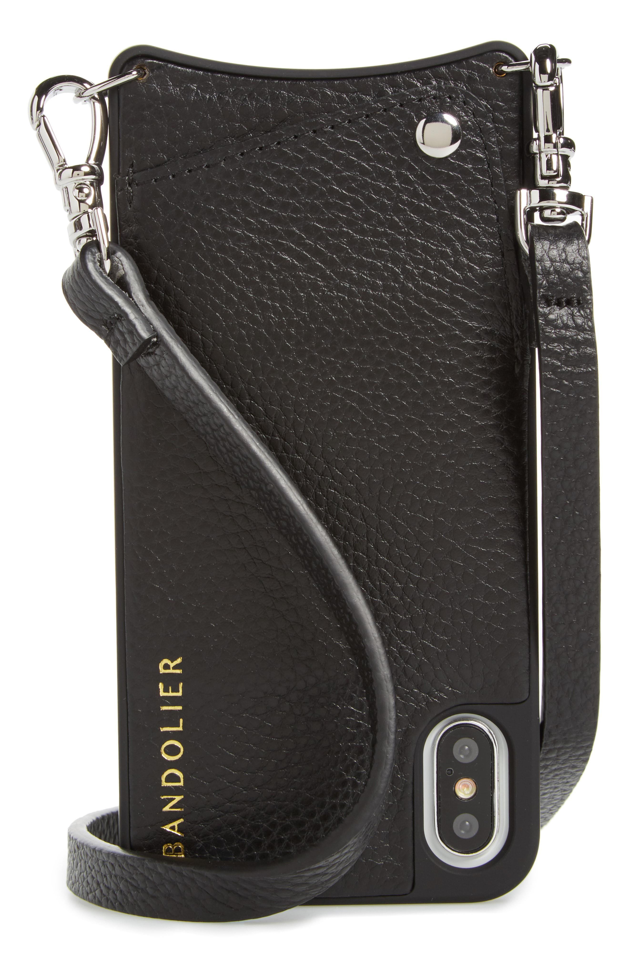 7337467d34ca Bandolier - Black Emma Leather Iphone X xs Case - Lyst. View fullscreen