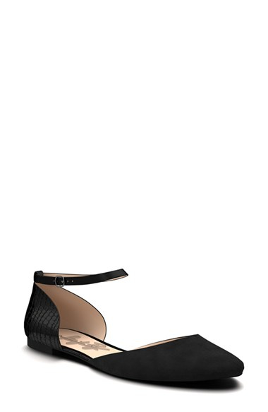 Shoes Of Prey Round Toe D Orsay Flat