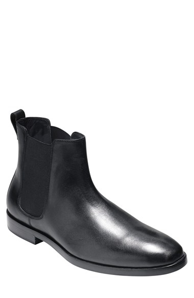 cole haan hamilton chelsea boot in black for lyst