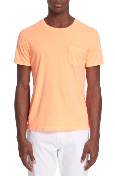 Polo ralph lauren custom fit pocket jersey crewneck in for Staples custom t shirts