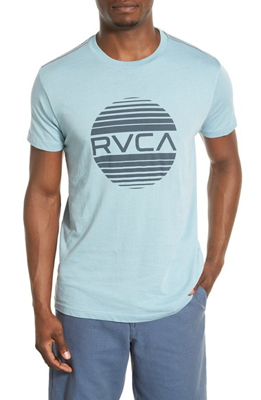 Lyst rvca 39 sanborn 39 graphic t shirt in blue for men for Rvca mens t shirts