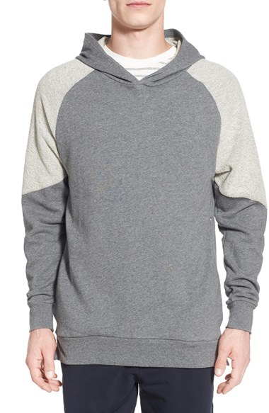 Slate And Stone Clothing : Slate stone two tone french terry side zip sweatshirt in