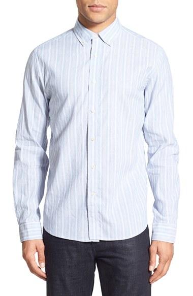Slate And Stone Clothing : Lyst slate stone stripe sport shirt in blue for men
