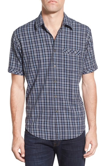 Lyst James Campbell 39 Annie 39 Regular Fit Plaid Short