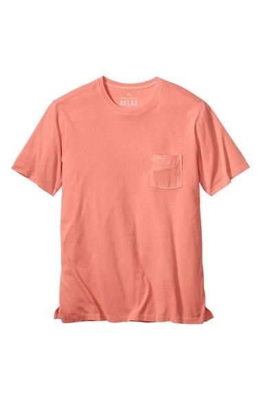 Tommy Bahama 39 Bahama Reef 39 Pocket Crewneck T Shirt In Pink