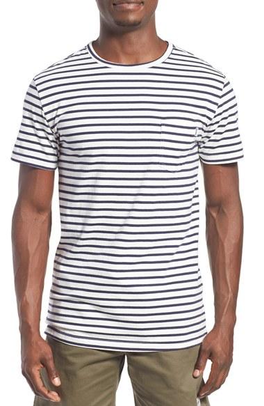 Rhythm 39 Standard 39 Stripe T Shirt In Blue For Men Lyst
