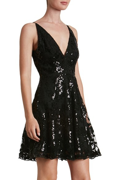 Dress The Population Morgan Sequin Lace Fit Amp Flare