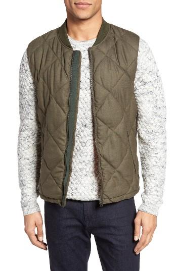 Scotch Amp Soda Quilted Vest In Gray For Men Lyst