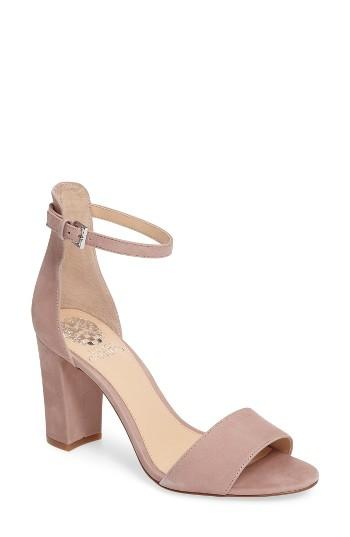 Vince Camuto Corlina Ankle Strap Sandal In Pink Lyst