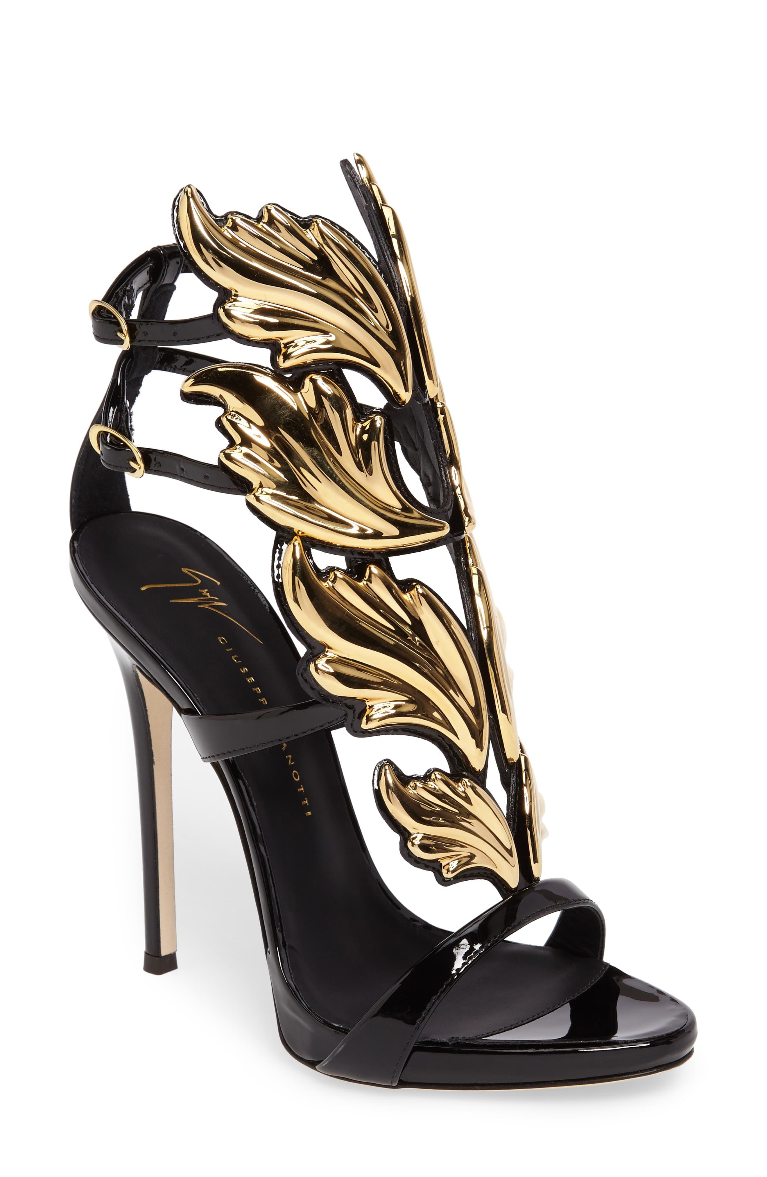 quality wide range latest Giuseppe Zanotti Cruel Wing Patent Leather Sandal in Black ...