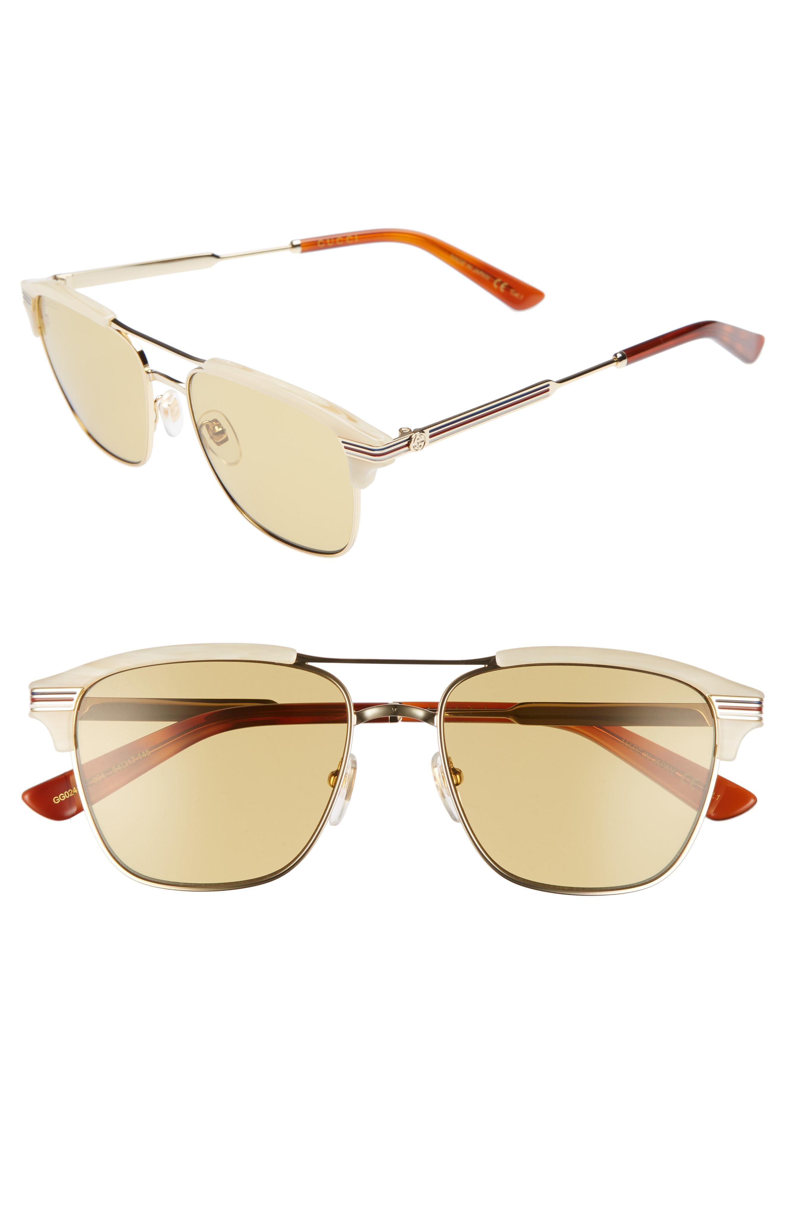 20da823522 Gucci Cruise 54mm Sunglasses in Metallic for Men - Lyst