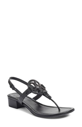 Lyst Tory Burch Miller Block Heel Sandals In Black
