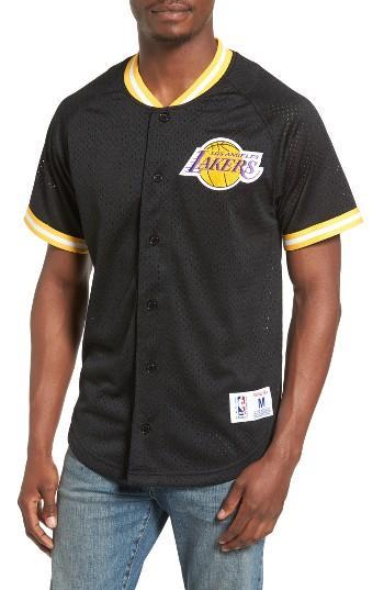 Mitchell /& Ness Los Angeles Lakers Seasoned Pro 2 Mens Purple Jersey Shirt