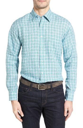 Robert talbott anderson classic fit sport shirt in blue for Robert talbott shirts sale