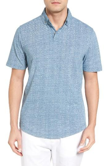Lyst maker company jacquard polo in blue for men for Polo shirt maker online