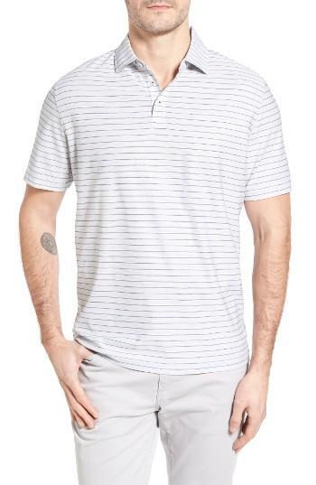 Lyst Maker Company Stripe Polo In White For Men