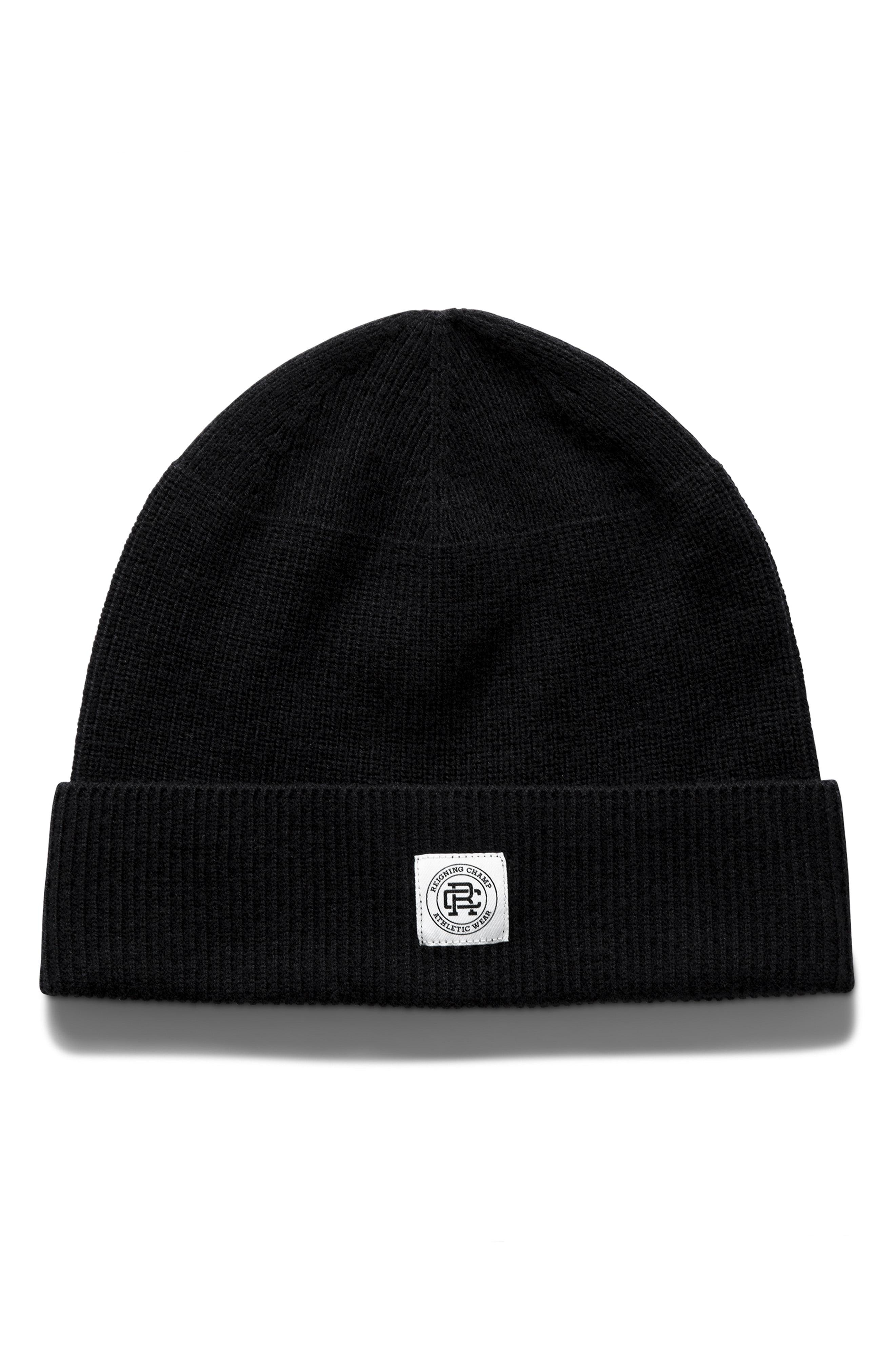 472bf23e4 Lyst - Reigning Champ Merino Wool Beanie in Black for Men - Save 52%