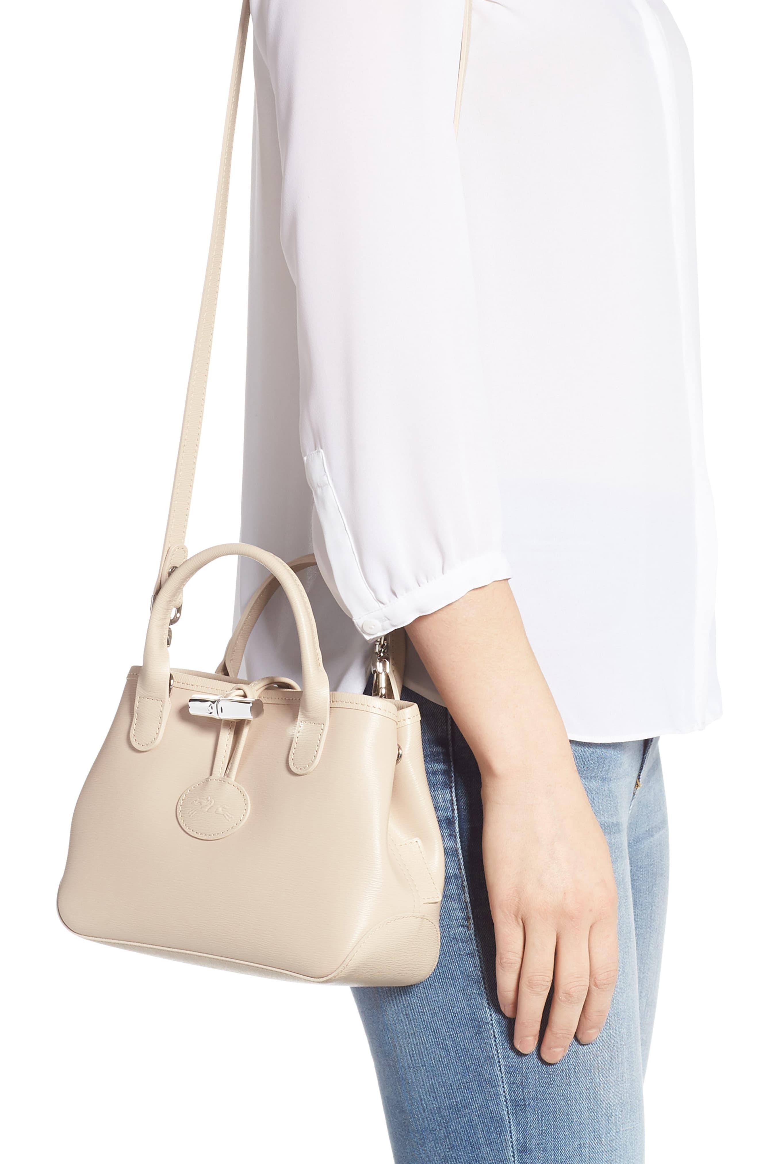 Mini Roseau Leather Crossbody Bag