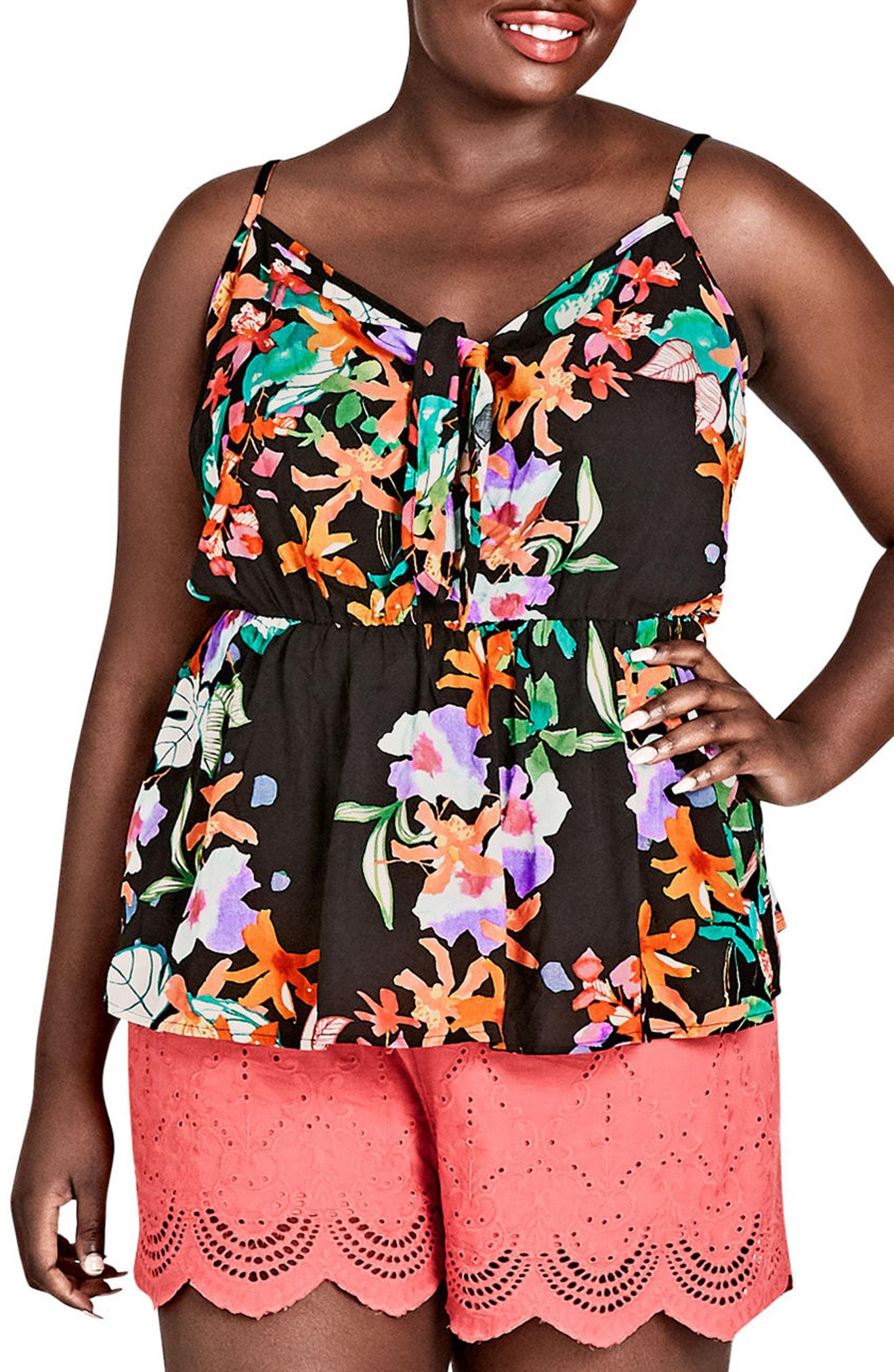7508df9cfa7 City Chic. Women s Molokai Floral Peplum Top