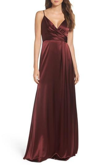 Lyst Jill Jill Stuart Faux Wrap Satin Gown