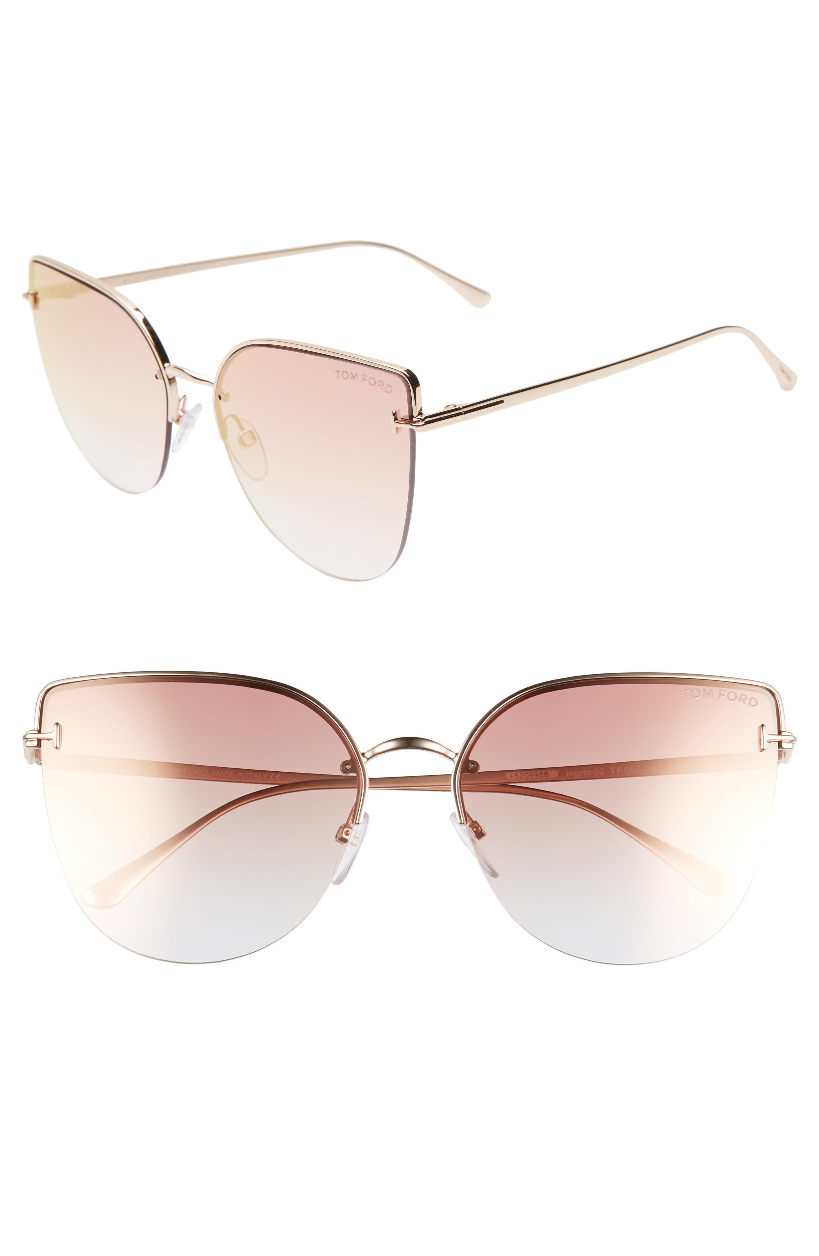 fc6db61f3262 Tom Ford - Pink Ingrid 60mm Cat Eye Sunglasses - Lyst. View fullscreen