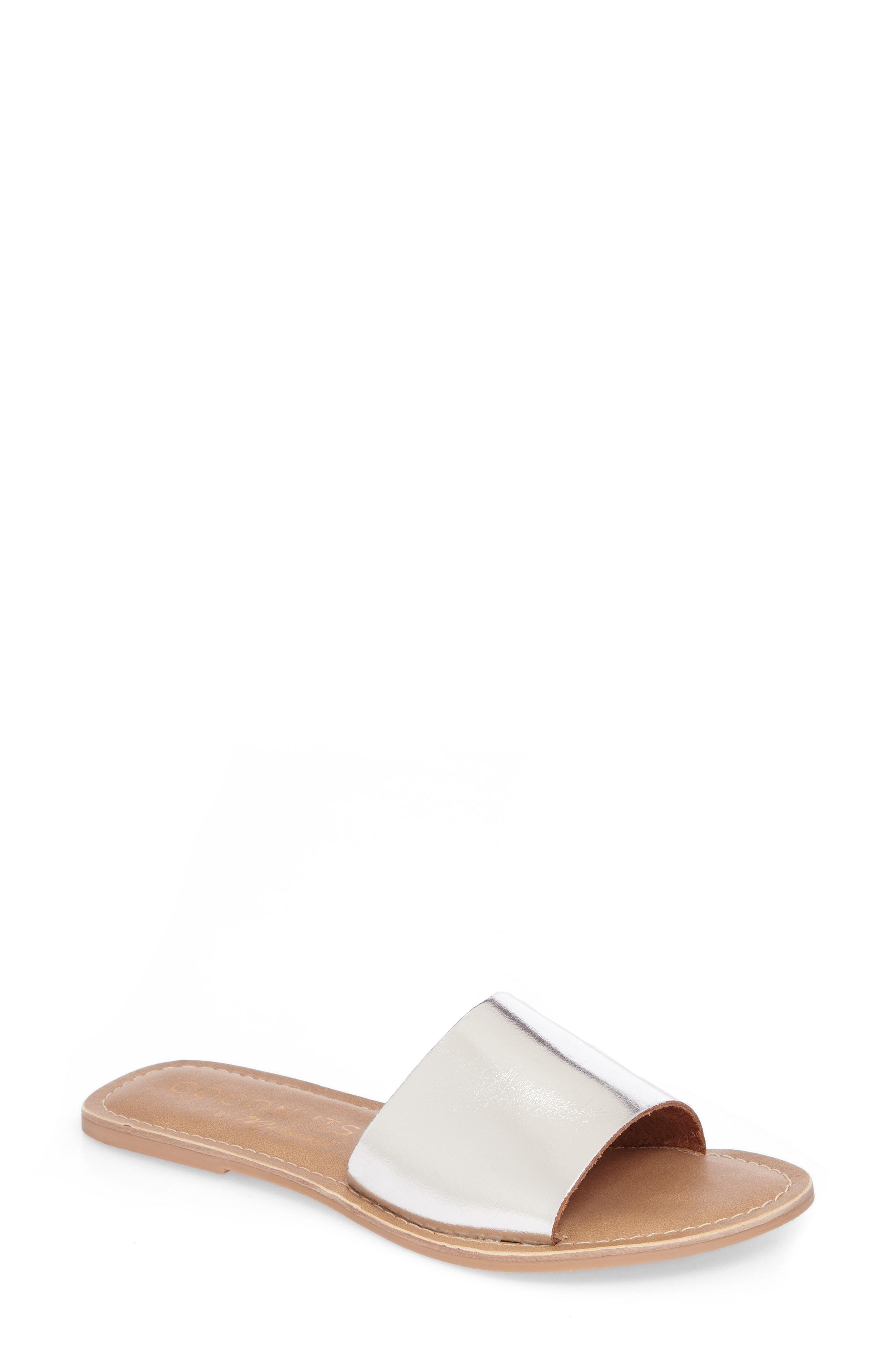 e8df3b7a981265 Lyst - Matisse Cabana Slide Sandal in Metallic