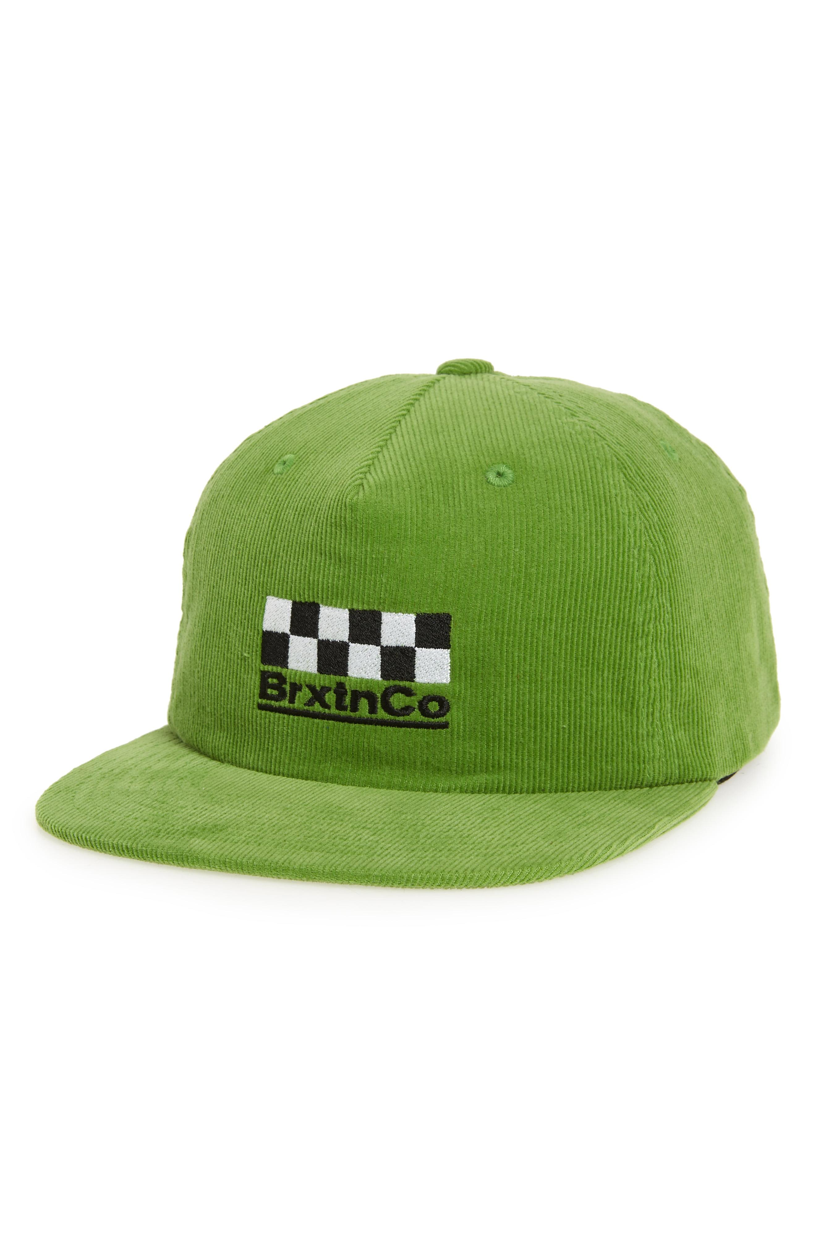 8a18606474ba2 Lyst - Brixton Burns Mp Snapback (washed Kelly) Caps in Green for ...