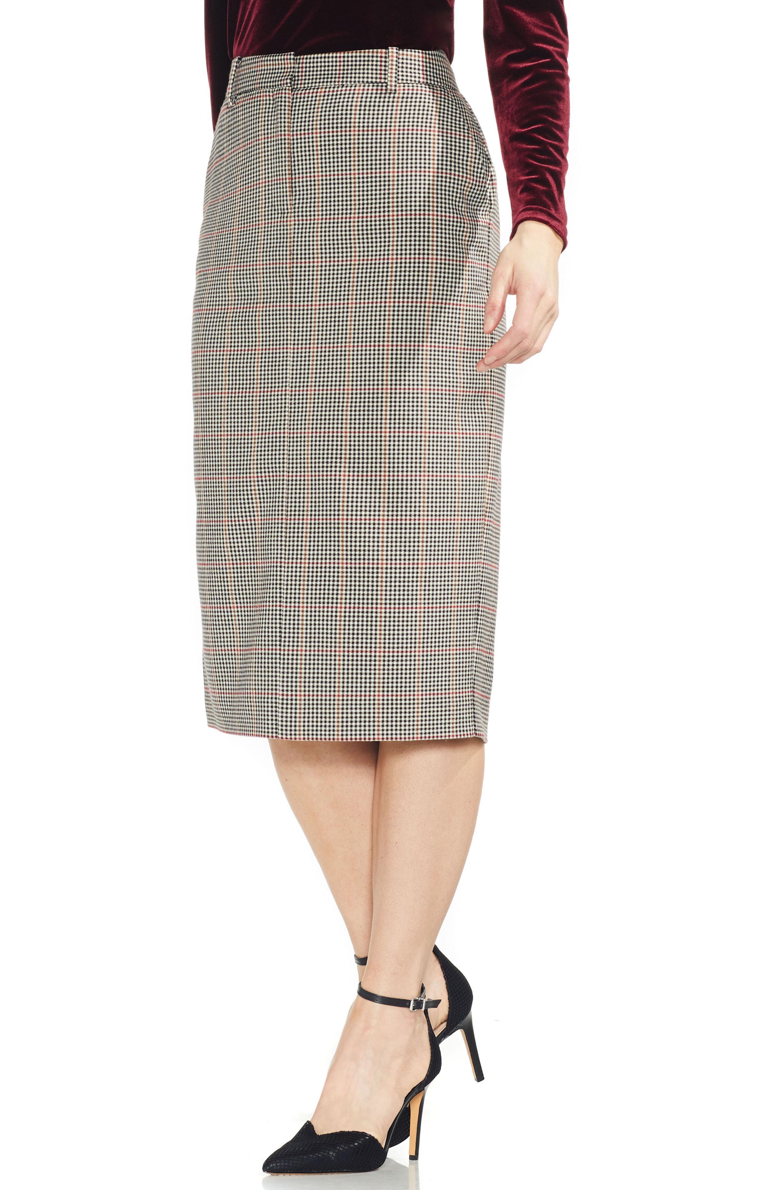 e83600af8b Vince Camuto Menswear Plaid Midi Length Pencil Skirt in Black - Lyst