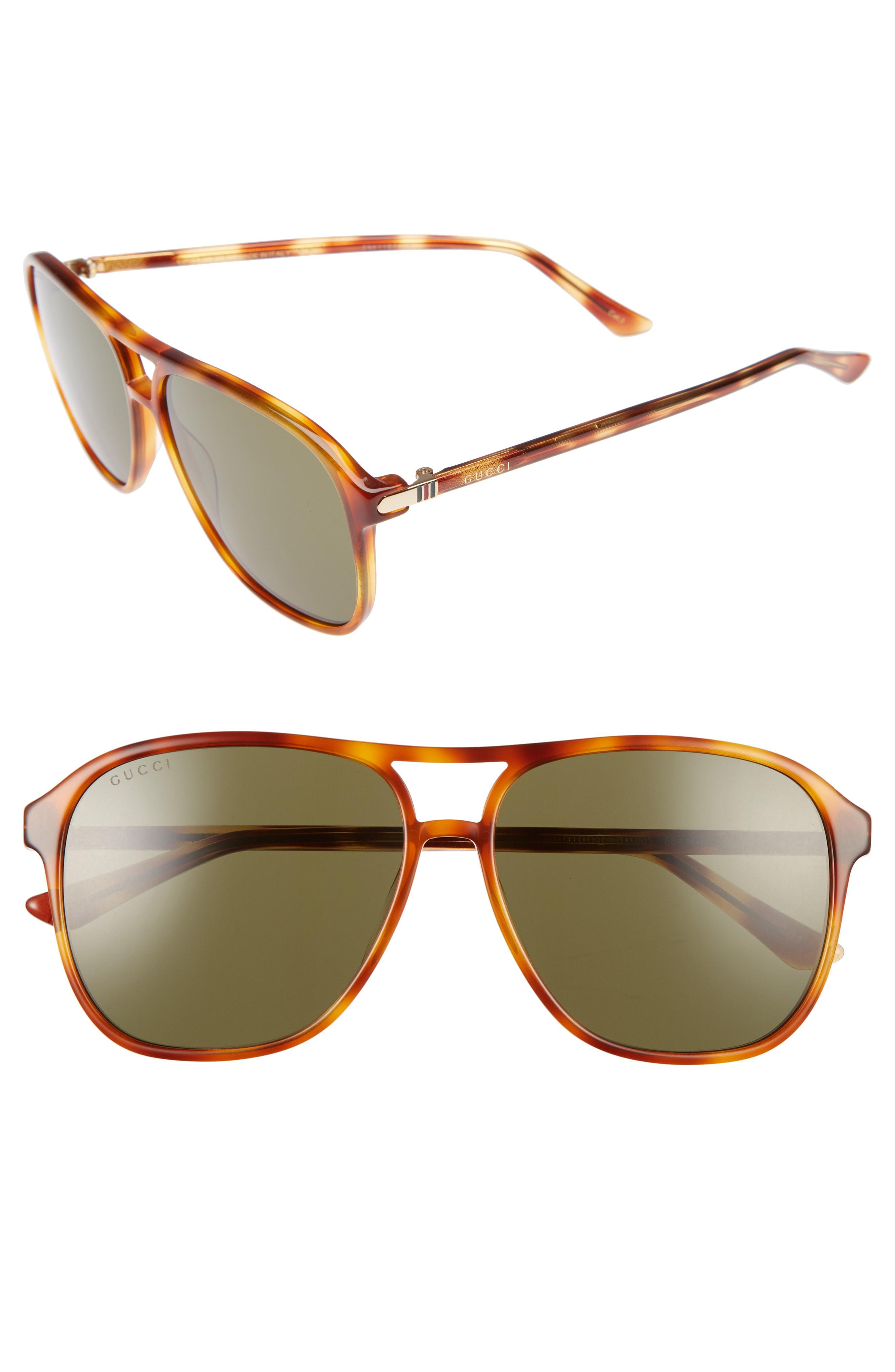 592eb789ae124 Gucci - Brown Retro Web 58mm Sunglasses - for Men - Lyst. View fullscreen