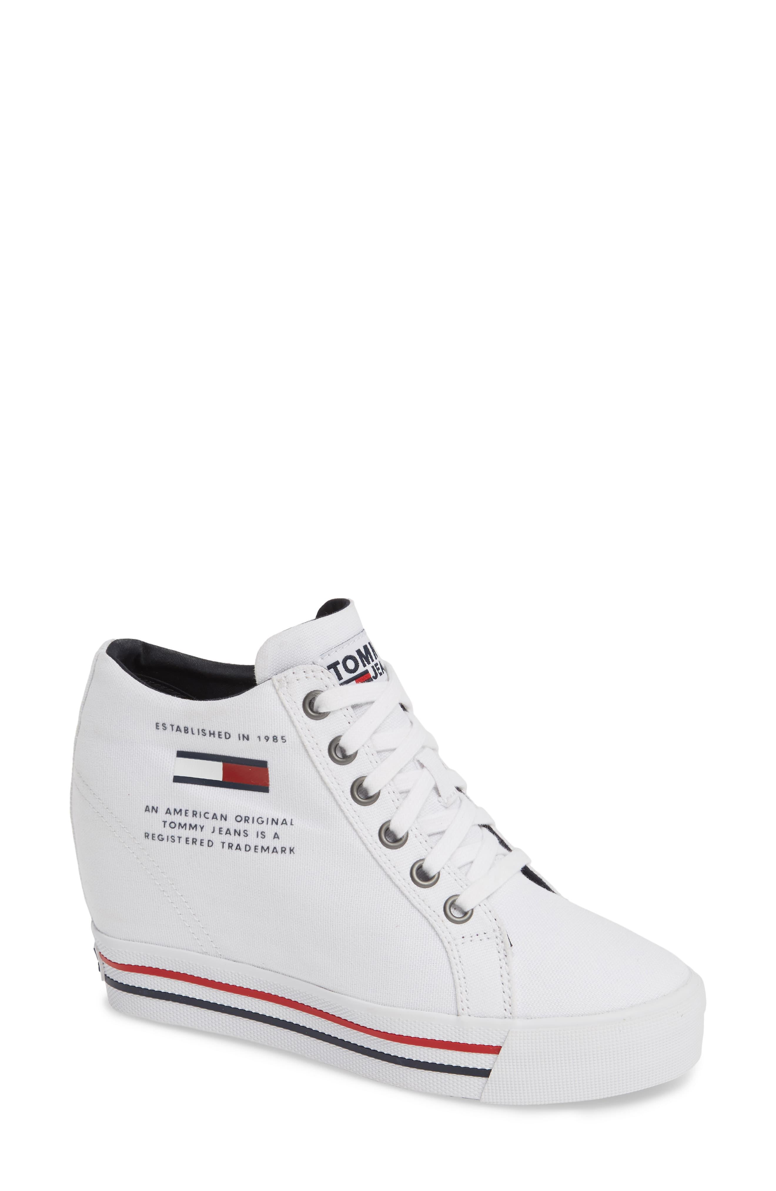 Tommy Hilfiger Wedge Sneaker in White