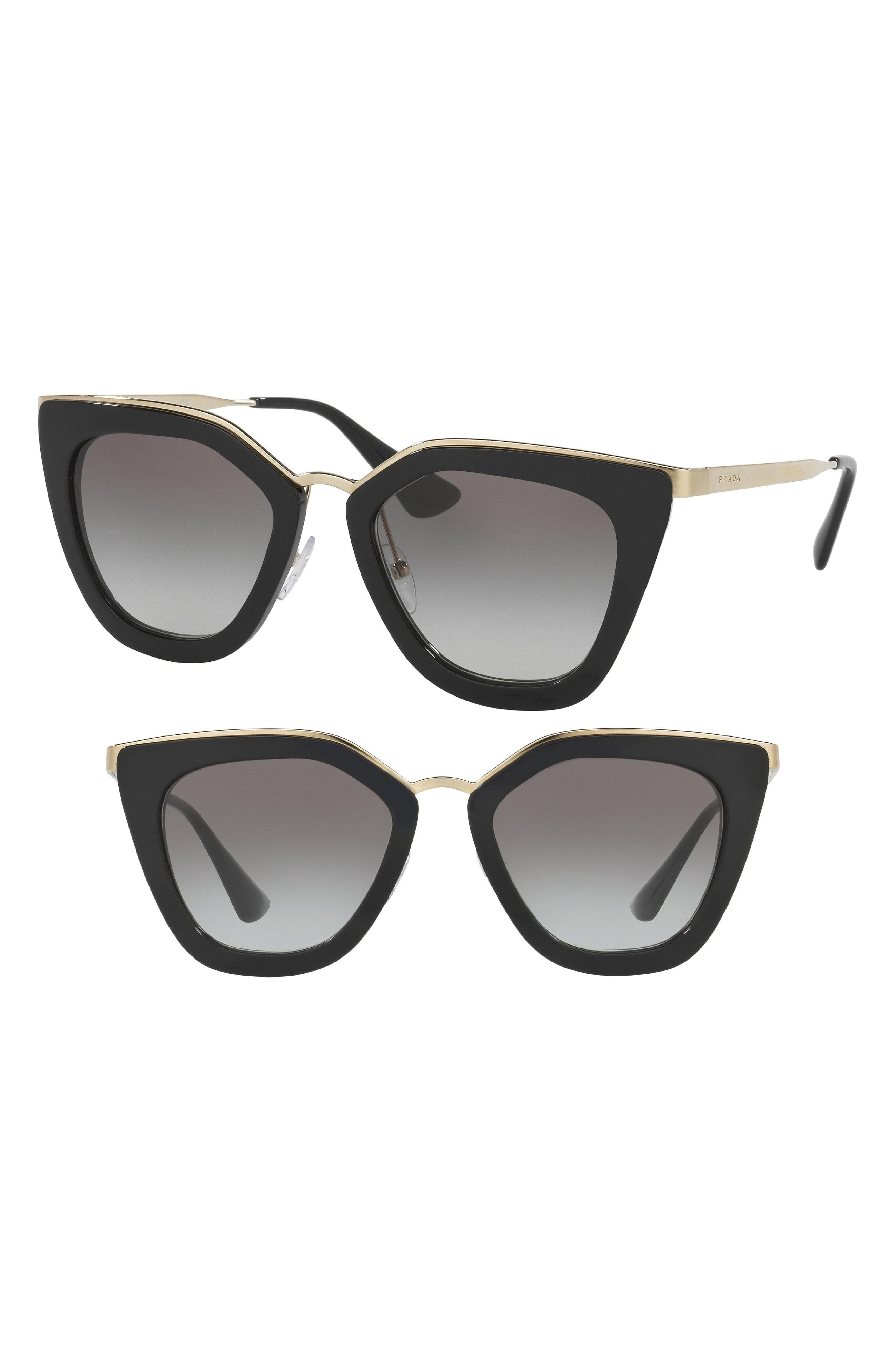 0a10fe8bb1 Prada - Multicolor 52mm Cat Eye Sunglasses - - Lyst. View fullscreen