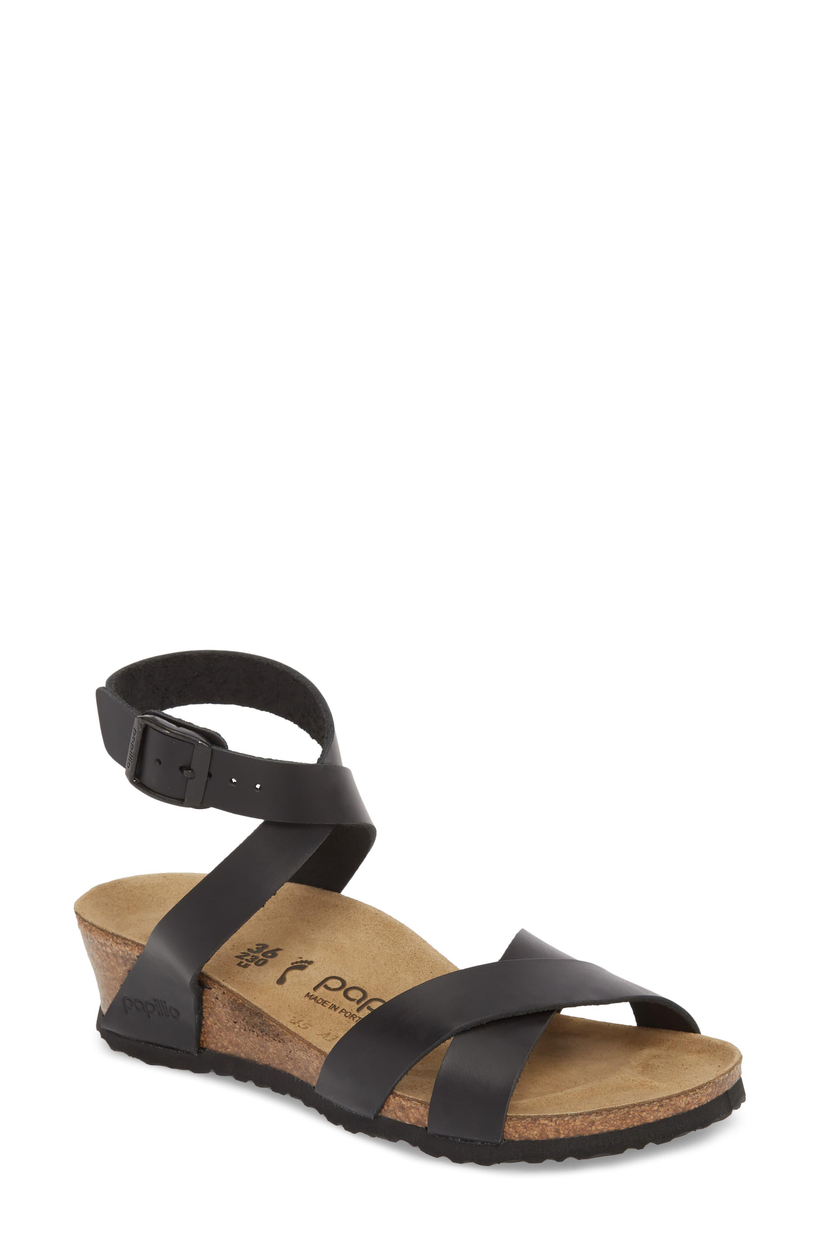 67693ef009 Birkenstock Papillio By Lola Wedge Sandal in Black - Save 1% - Lyst