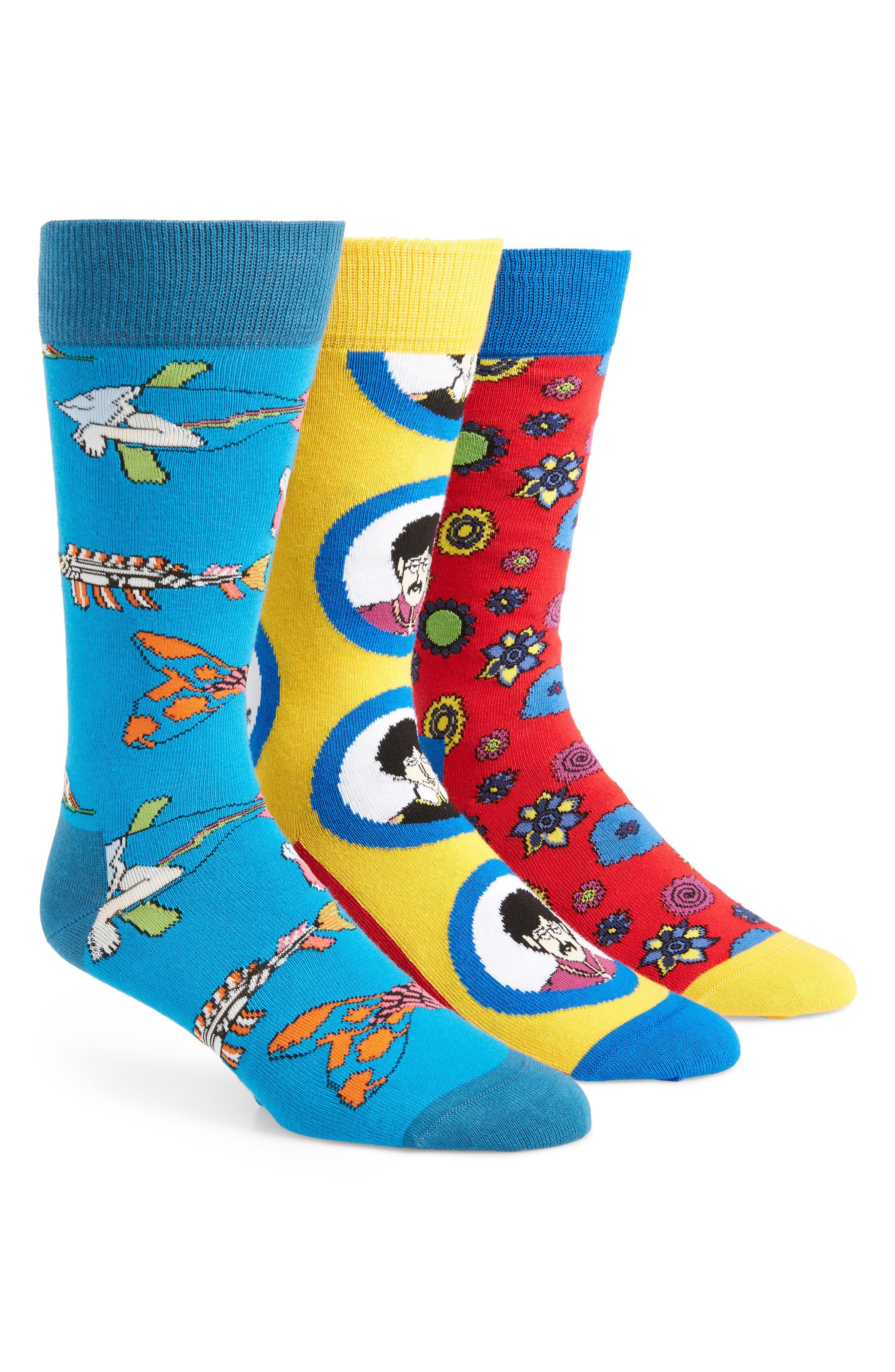 Lyst - Happy Socks The Beatles 3-pack Sock Gift Set in Blue for Men