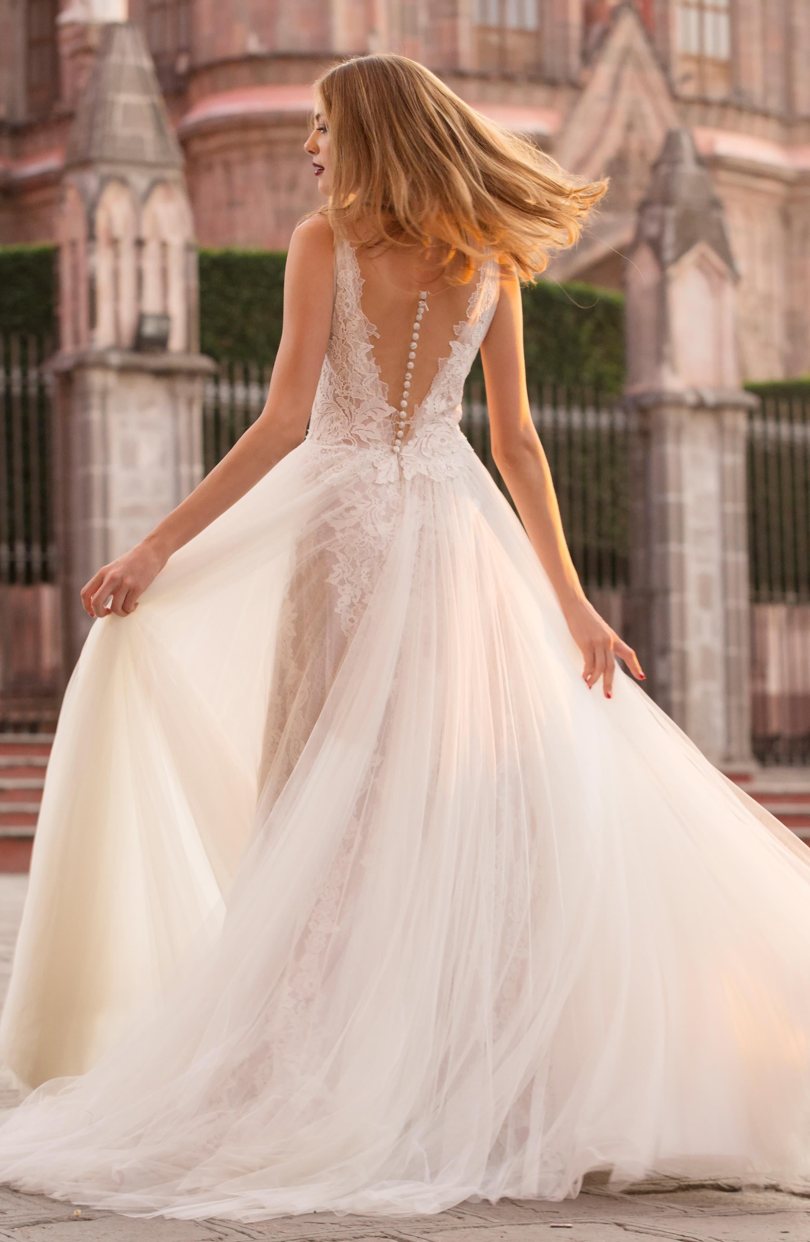 406d26cd4270 Watters Ludmila Silk Lace & Tulle A-line Gown - Lyst