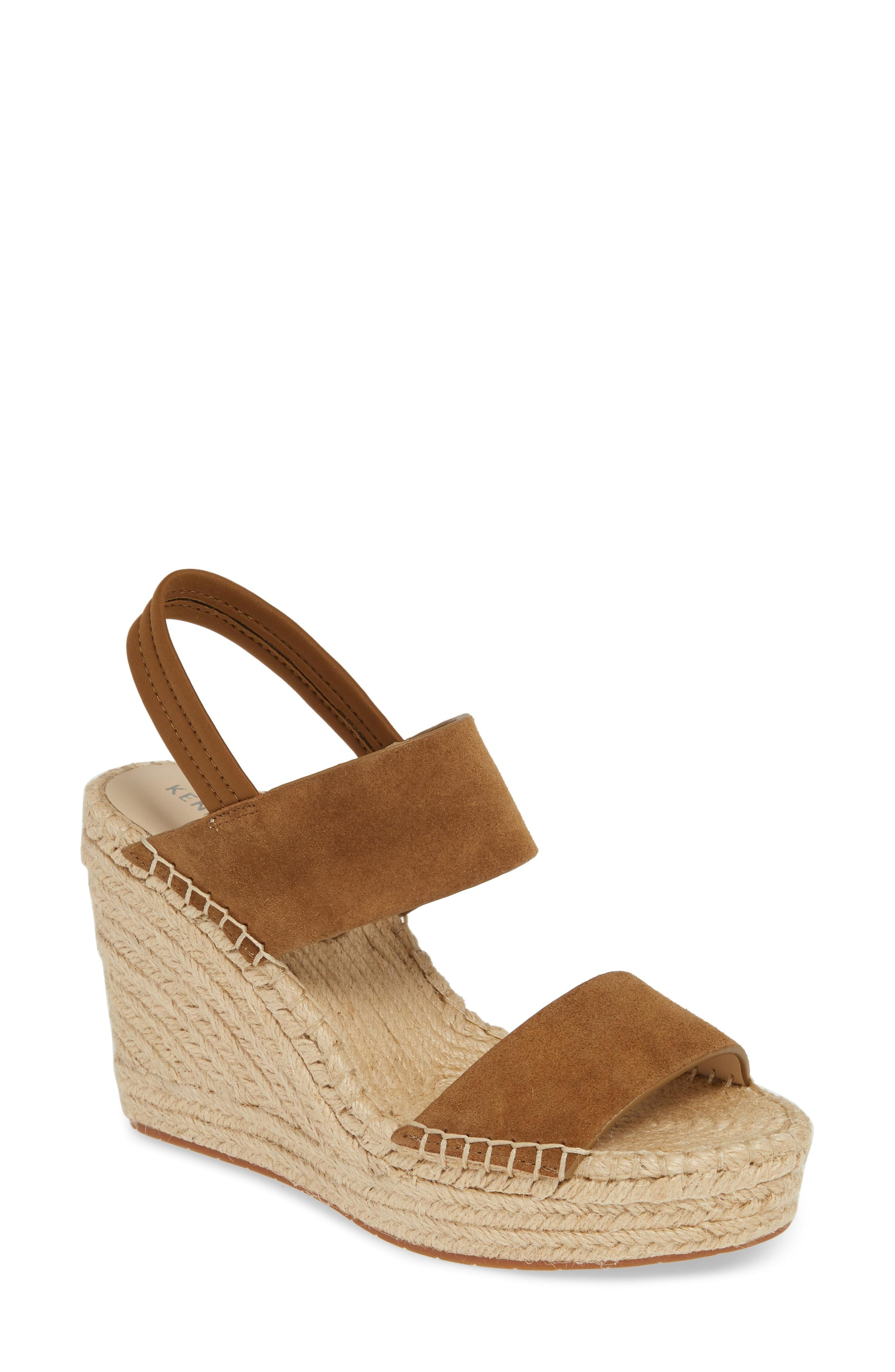 65f9478c0a8 Lyst - Kenneth Cole Olivia Simple Platform Wedge Sandal in Brown