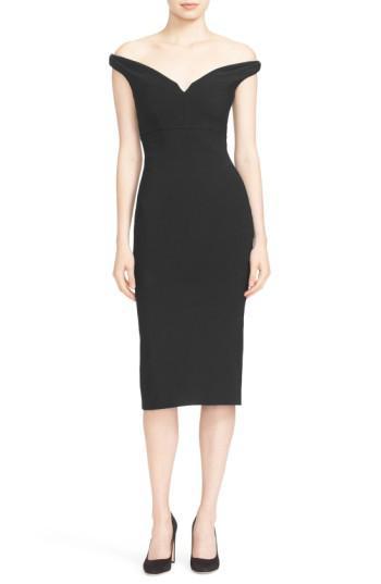331414e59ad8 Lyst - Cinq À Sept Garnet Off The Shoulder Dress in Black