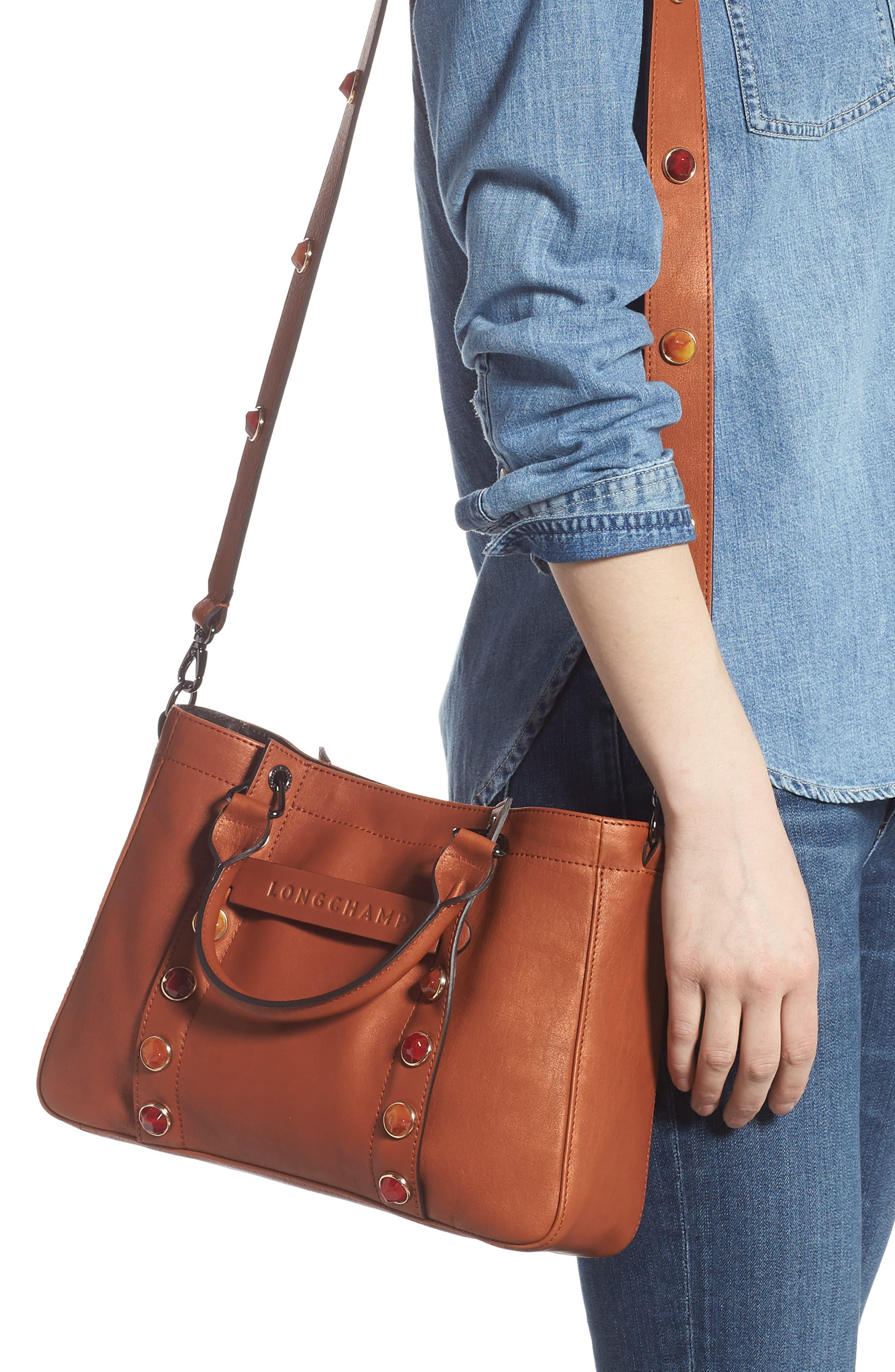Small 3d Pierre Leather Tote