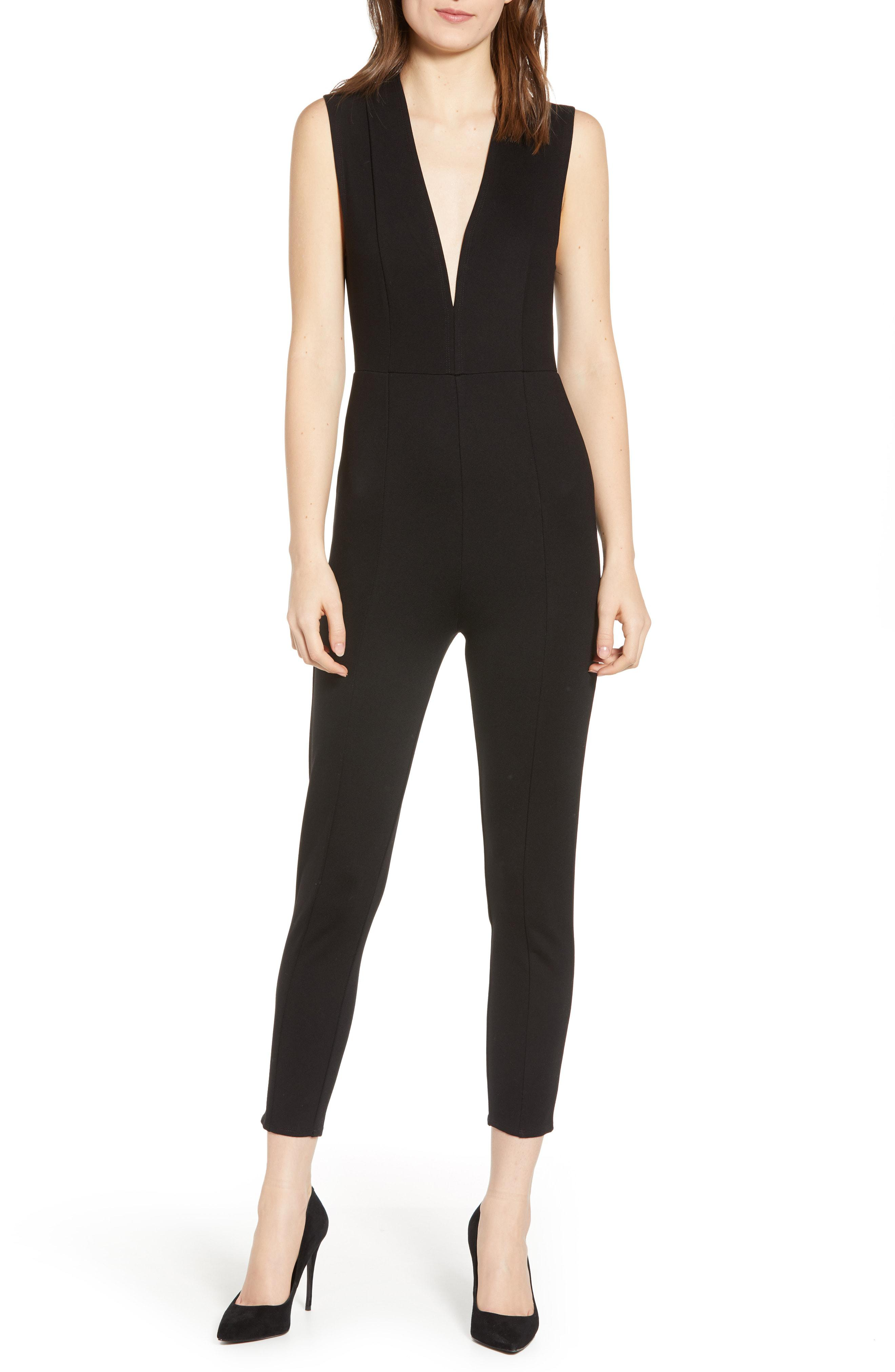 42baf36f7f4 Lyst - Amuse Society Cat s Meow Jumpsuit in Black
