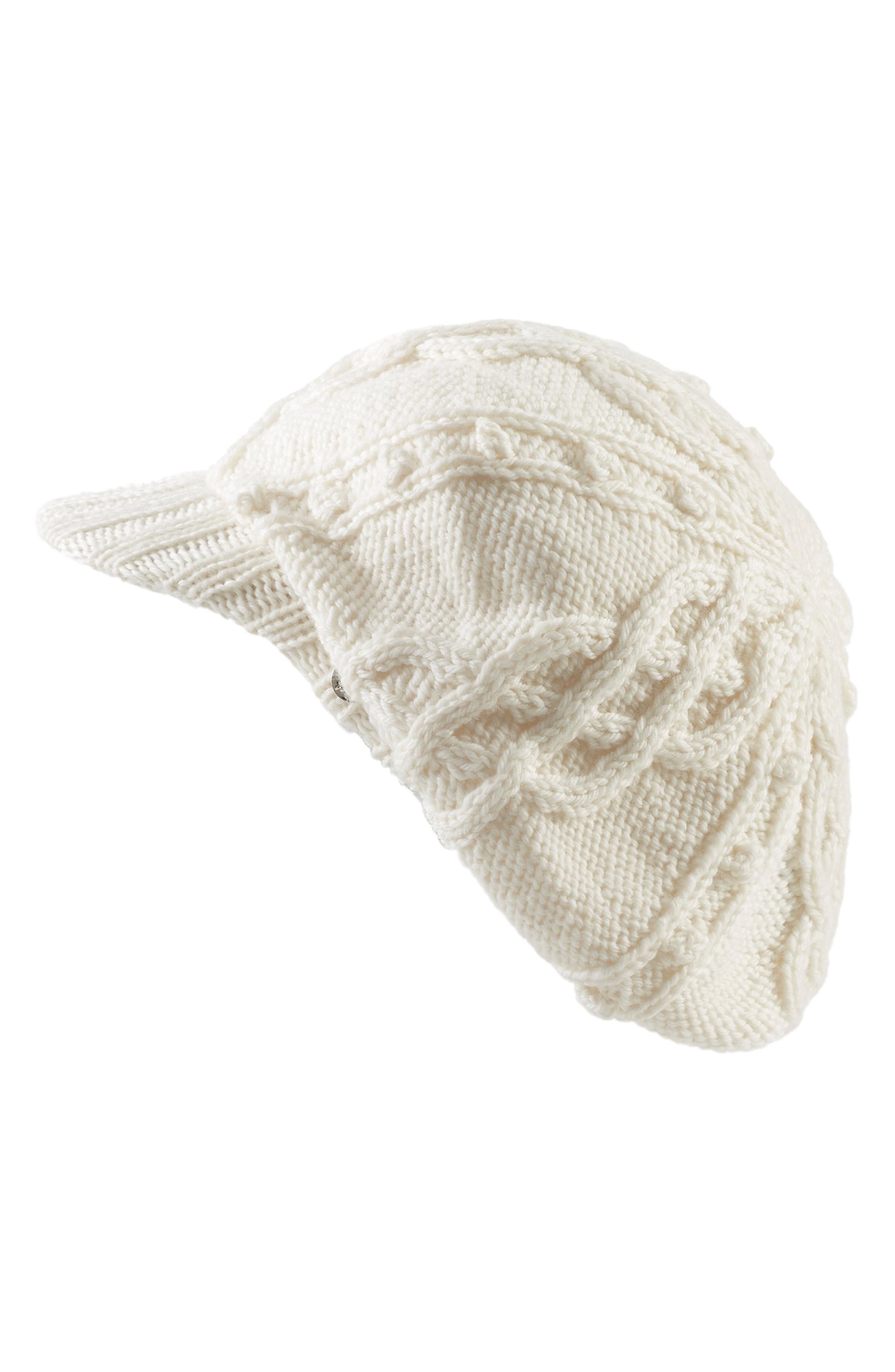 Lyst - Helen Kaminski Knit Merino Wool Baker Boy Cap in Natural 5d047684f334